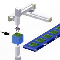 application robot cartésien pour dépilage
