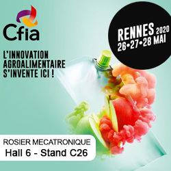 ROSIER Mécatronique sera présent au CFIA Rennes les 26, 27 et 28 mai prochains